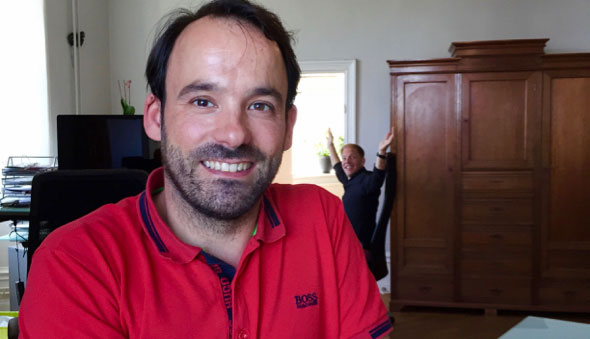 Javier Pardo ny praktikant i södra tornet